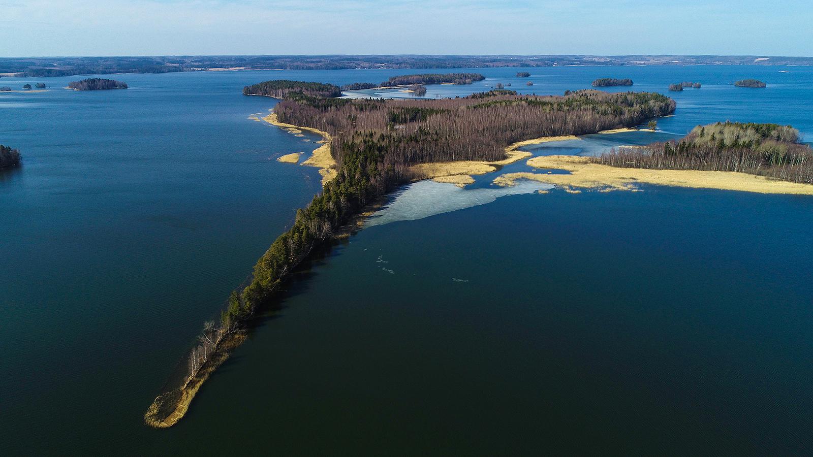 Vehkosaari Vesijärvellä on melkein kokonaan säätiön omistama.